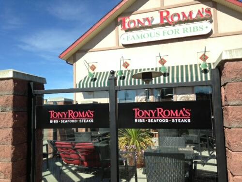 tony romas window signs