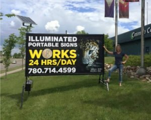 Lighted Mobile Sign Fort McMurray