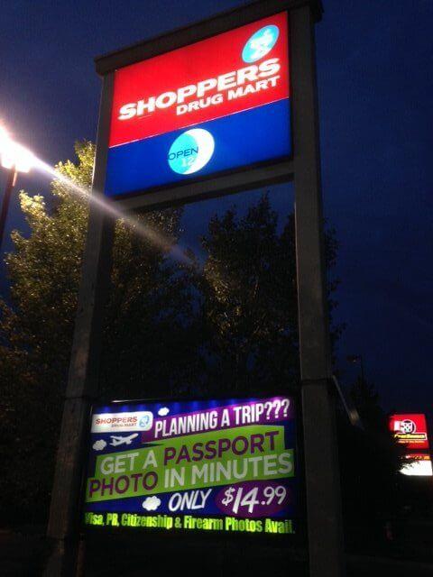 illuminated portable sign rental edmonton