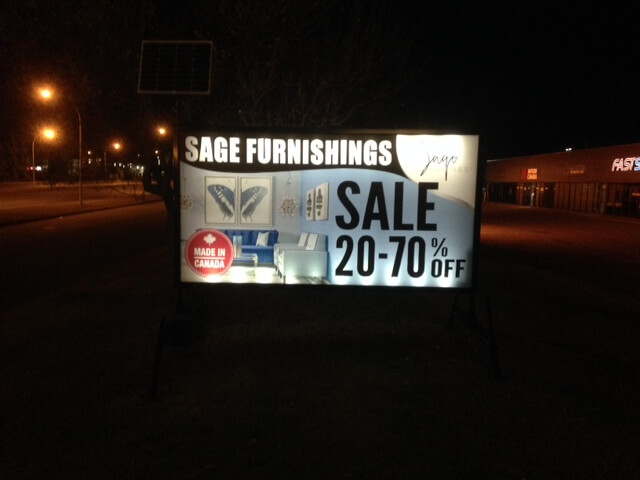 outdoor lighted portable signs