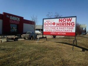 edmonton temporary sign rentals