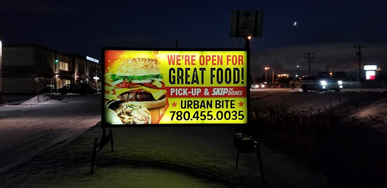 Road Business Signs Edmonton